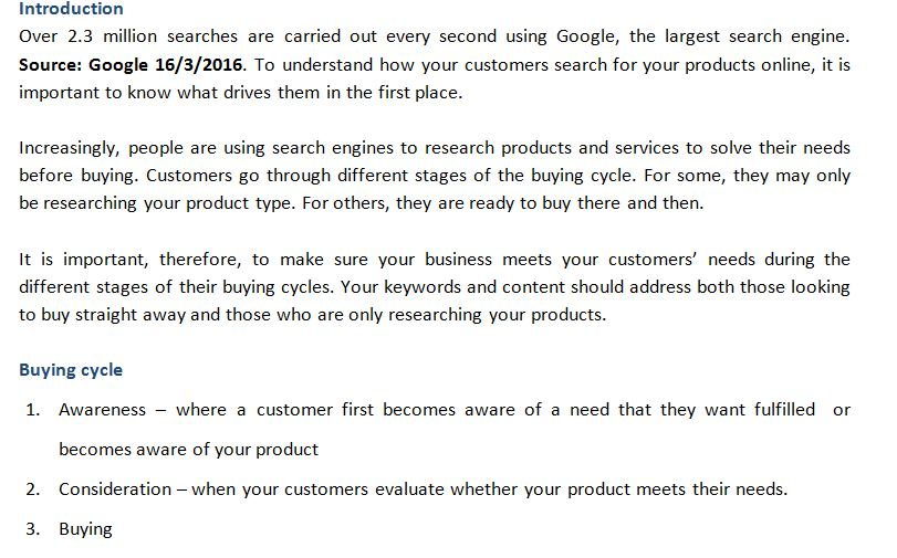 Understanding how people search for your products