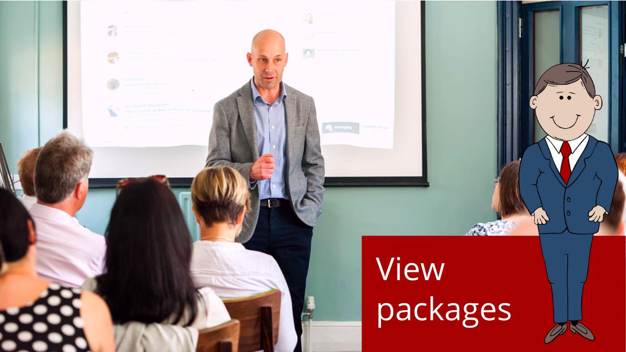 Delivering marketing training